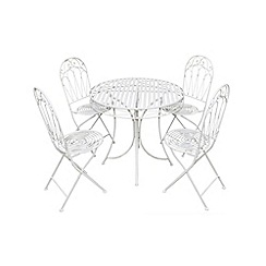 Debenhams - White 'Romance' table and folding chairs