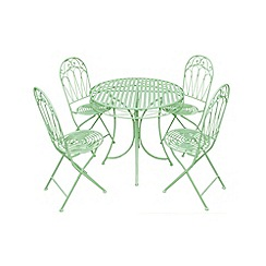 Debenhams - Green 'Romance' table and folding chairs