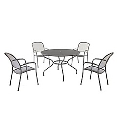 Debenhams - Steel 'Carlo' outdoor table and 4 chairs