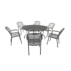 Debenhams - Steel 'Carlo' outdoor table and 6 chairs