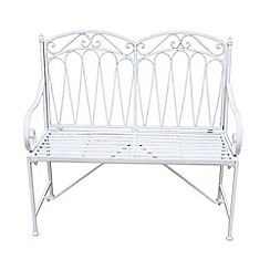 Debenhams - White 'Romance' bench