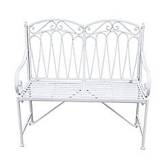 Debenhams - White 'Romance' bench