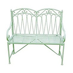 Debenhams - Green 'Romance' bench
