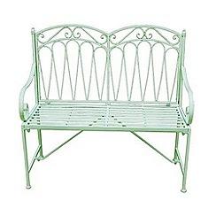Debenhams - Green 'Romance' bench