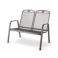 Debenhams - Steel 'Savoy' bench