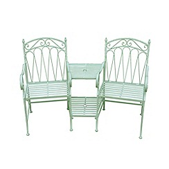 Debenhams - Green 'Romance' love seat