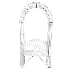 Debenhams - White 'Romance' arbour bench
