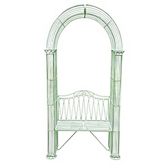 Debenhams - Green 'Romance' arbour bench