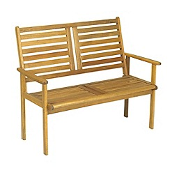 Debenhams - Acacia wood 'Napoli' bench