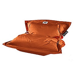 Debenhams - Tangerine orange outdoor bean bag with strapping