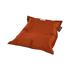 Debenhams - Small tangerine orange outdoor bean bag