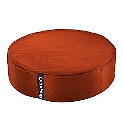 Debenhams - Large tangerine orange circular outdoor bean bag