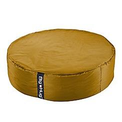 Debenhams - Large yellow circular outdoor bean bag