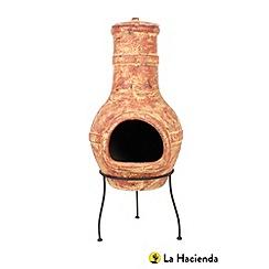 La Hacienda - Large copper clay chimenea