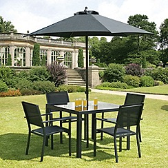 Debenhams - Black 'Torino' square table and 4 chairs