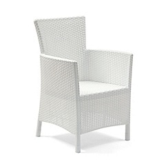 Debenhams - Pair of white 'Iowa' chairs