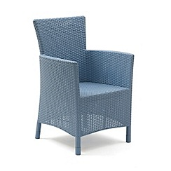 Debenhams - Pair of blue 'Iowa' chairs