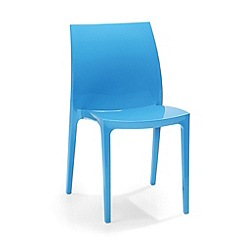 Debenhams - Pair of blue 'Sento' chairs
