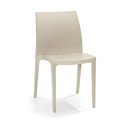 Debenhams - Pair of taupe 'Sento' chairs