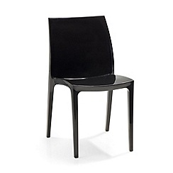 Debenhams - Pair of black 'Sento' chairs