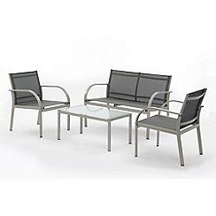 Debenhams - Grey 'Metz' 2-seater sofa, coffee table and 2 armchairs