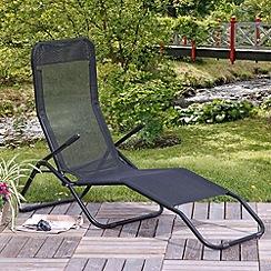 Debenhams - Black 'Siesta' sun lounger