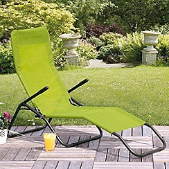 Debenhams - Lime green 'Siesta' sun lounger