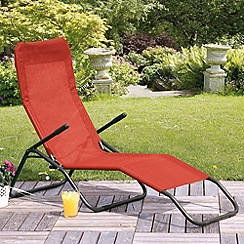 Debenhams - Red 'Siesta' sun lounger