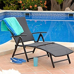 Debenhams - Black 'Amalfi' folding sun lounger