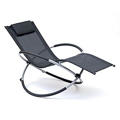 Debenhams - Black and steel 'Orbit' rocking chair