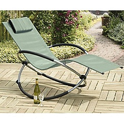 Debenhams - Green and steel 'Orbit' rocking chair