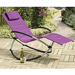 Debenhams - Purple and steel 'Orbit' rocking chair