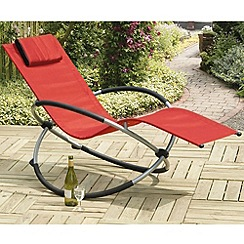 Debenhams - Red and steel 'Orbit' rocking chair