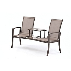 Debenhams - Brown 'Havana' duo seat