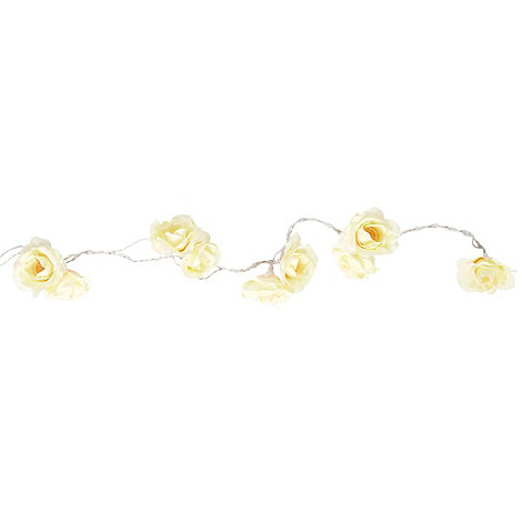 Debenhams - Cream rose lights