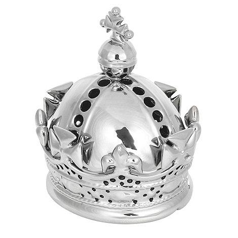 Debenhams - Silver crown lamp
