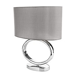 Betty Jackson.Black - Grey oval lamp