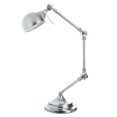 Silver hinged desk lamp