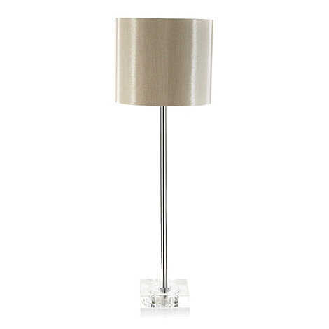 J by Jasper Conran - Taupe glass base bedside lamp