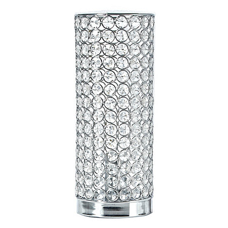 Star by Julien Macdonald - Silver diamanté table lamp