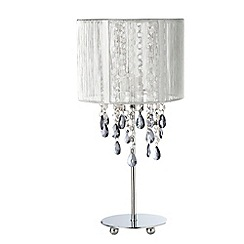 Star by Julien Macdonald - Silver jewel bead table lamp