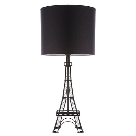 Ben de Lisi Home - Black Eiffel tower shaped table lamp