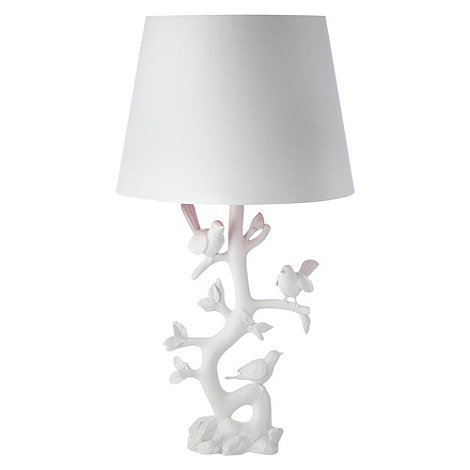 Butterfly Home by Matthew Williamson - White bird and branch table lamp