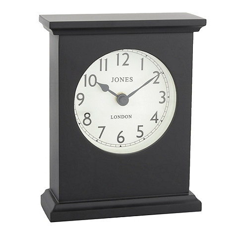 Jones - Black +Draycott+ rectangle mantel piece clock
