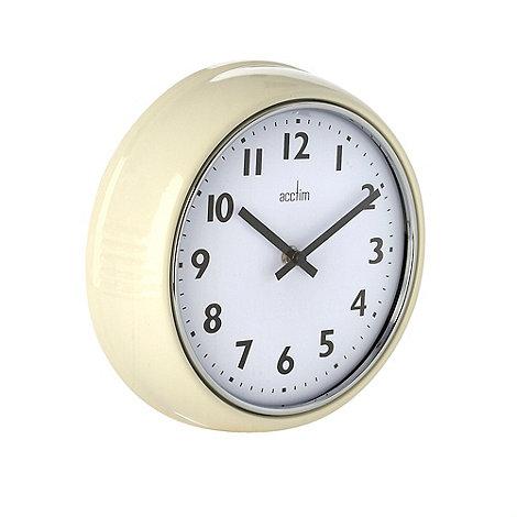 acctim cream wall clock