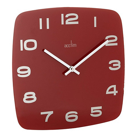 Acctim - Red square glass clock