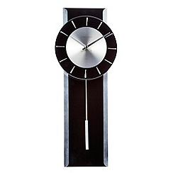 London Clock - Black glass 'Pendulum' wall clock