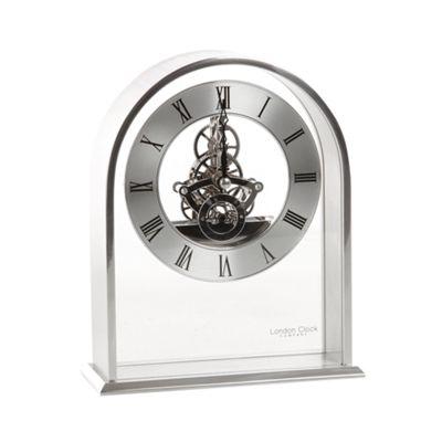 London Clock Chrome skeleton arch mantel clock - . -
