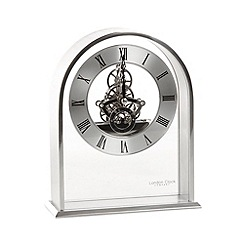 London Clock - Chrome skeleton arch mantel clock