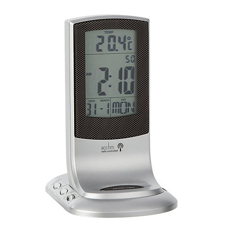 Acctim - Silver desk alarm clock